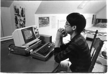 Warren Chao of Queens did his homework on his family's computer in 1982.